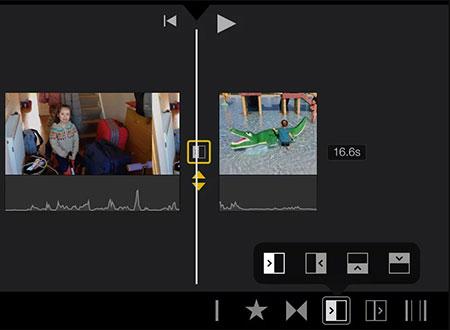 Overgang toevoegen aan iMovie
