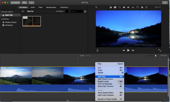 Podzielony klip iMovie 10
