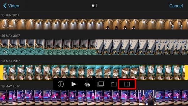 Κάντε κλικ στο εικονίδιο Split Screen iPad iPhone