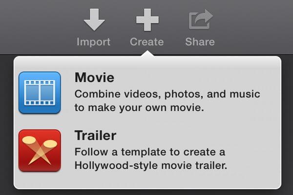 Crea iMovie Trailers