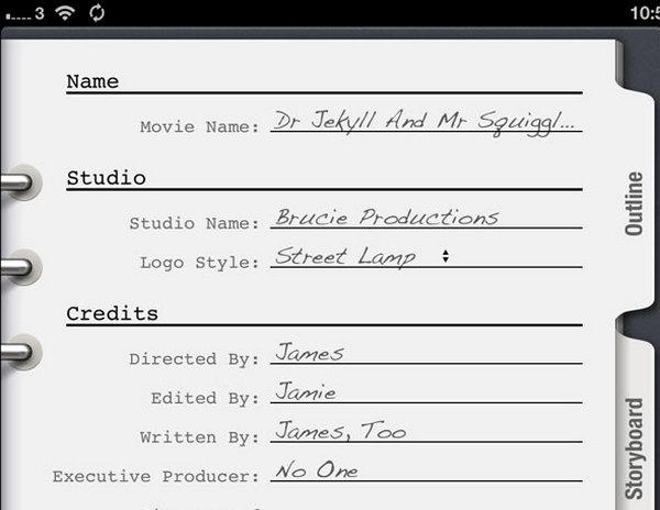 iPad iMovie Trailer Outline