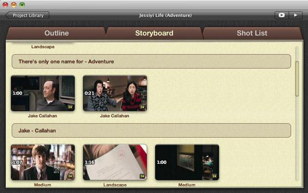 iMovie Trailer Storyboard
