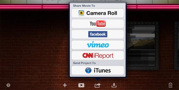 Condividi iMovie Trailer iPad iPhone