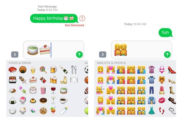 3X messaggi Emoji più grandi