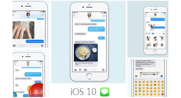 Μηνύματα Emoji iOS 10