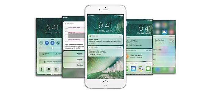 Nová obrazovka zámku iOS 10