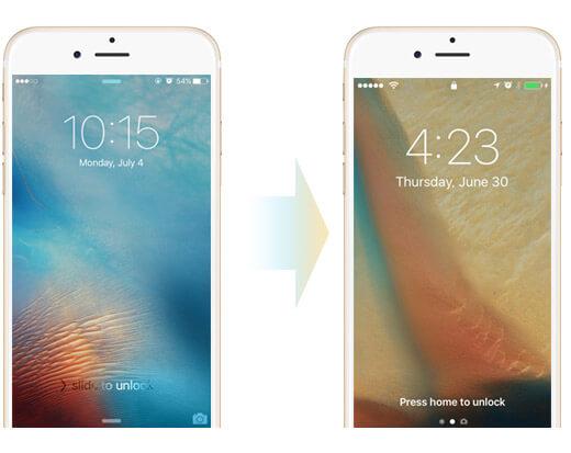 Odemkněte obrazovku v systému iOS 10