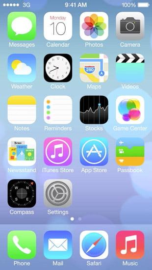 Stile di progettazione di iOS 7
