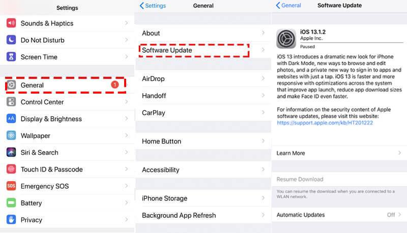 Ενημερώστε το iPhone στην πιο πρόσφατη έκδοση