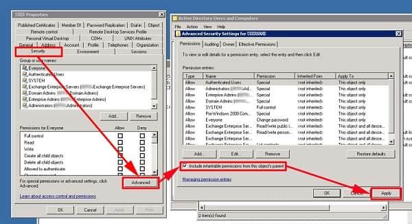 Zmień ustawienia zabezpieczeń Microsoft Exchange