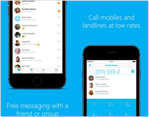 how to send text from skype