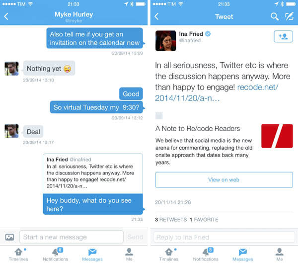how to stop twitter text messages on iphone