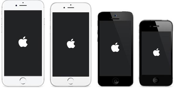 iPhone nalepený na Apple Logo