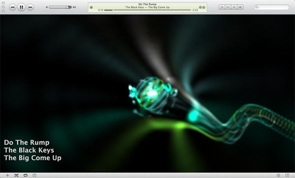 Οπτικοποιητής Aeon iTunes