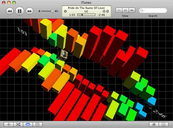 Visualizzatore iTunes di Cubismo