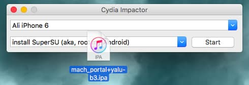 Drag Yalu into Cydia