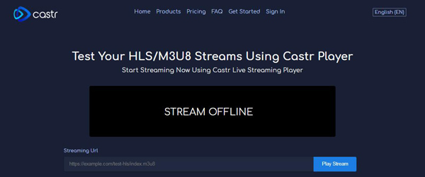 Castr Live Streaming Player