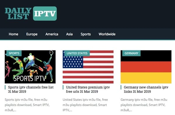 Daily Updated! Download IPTV M3U8 Playlist for Free Consistently