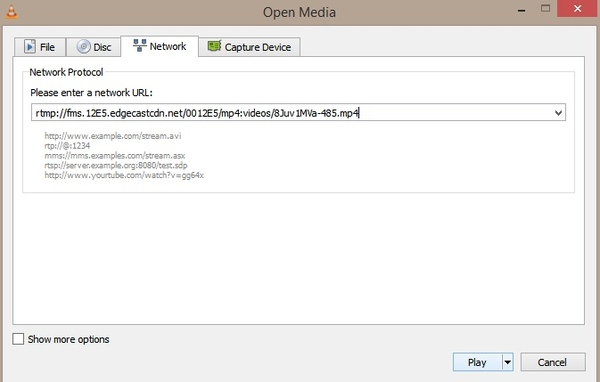 Apri i file M3U8 con VLC Media Player
