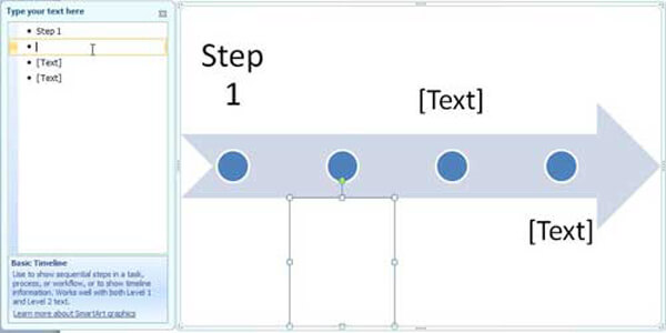 Crea una sequenza temporale in PowerPoint
