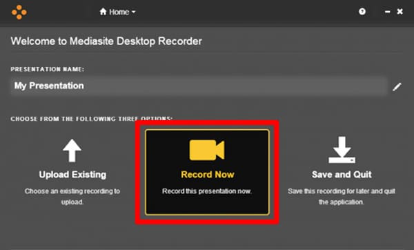 Use Mediasite Desktop Recorder