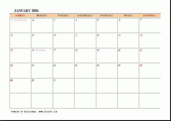 Calendario XL