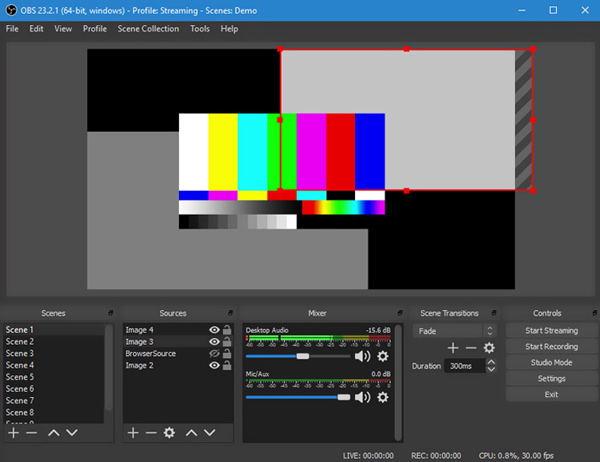 Registratore dello schermo OBS MP4