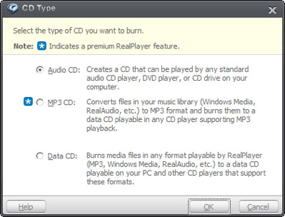 選擇CD類型