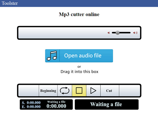 Audio Cutter - Toolster MP3 Cutter online