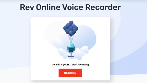 Online hlasový záznamník Rev