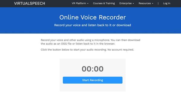 Virtuální řečový online diktafon