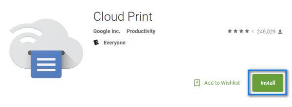 Κατεβάστε την εφαρμογή Cloud Print από το Google Play