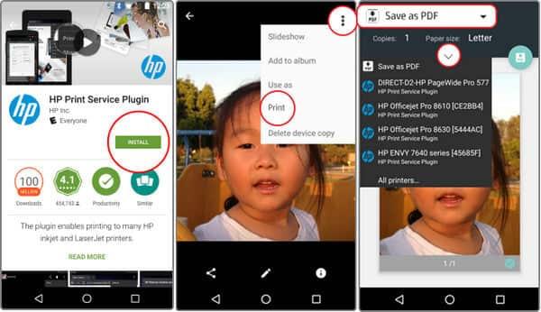 Εκτύπωση από Android με το Google Cloud Print