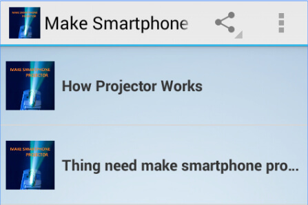 make smartphone projector