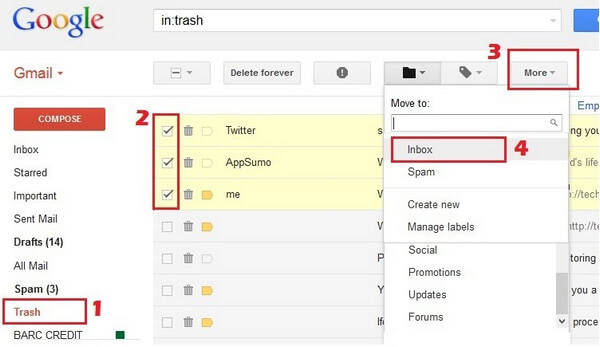 How to Delete or Recover Gmail Messages (Permanently)