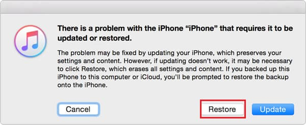 Erase iPhone in iTunes Recovery Mode