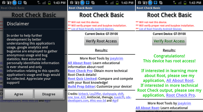 Verifica root Android