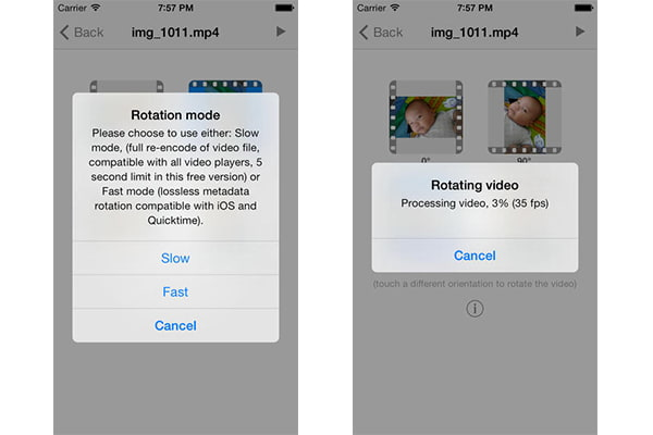 How to rotate a video on iphone rotate iphone video with video rotate free ccuart Images