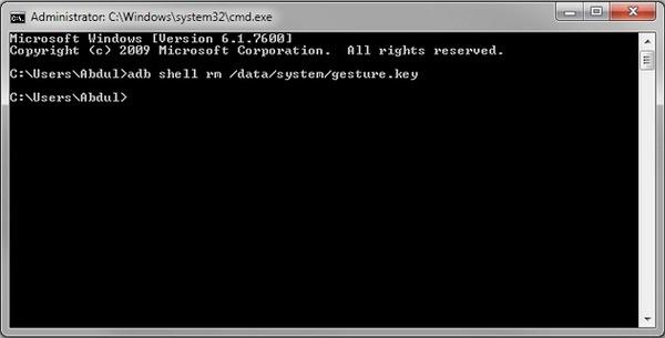 Χρησιμοποιήστε το ADB για να διαγράψετε τον κωδικό πρόσβασης