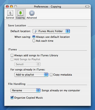 How to transfer playlists with Senuti