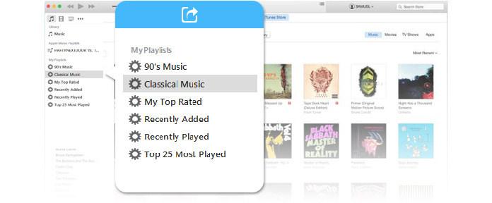 Sdílejte seznam skladeb iTunes