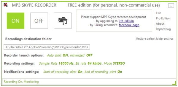 Registratore skype mp3