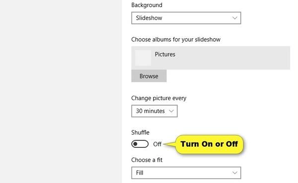 Δημιουργήστε μια ταπετσαρία παρουσίασης στα Windows 10