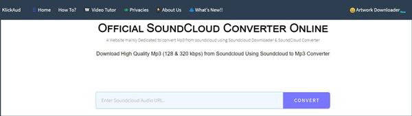 Convertitore online gratuito da Soundcloud a MP3