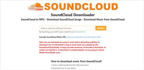 Convertitore online da Soundcloud a MP3