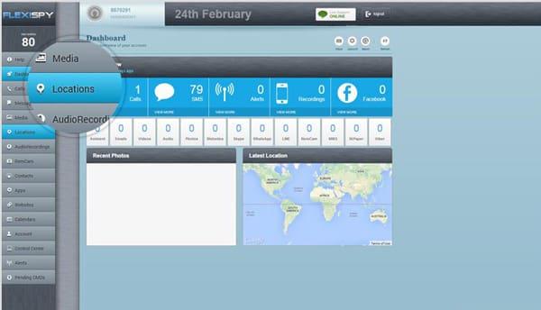 FlexiSPY iPhone Tracker