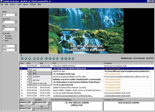 Subtitle Workshop,en