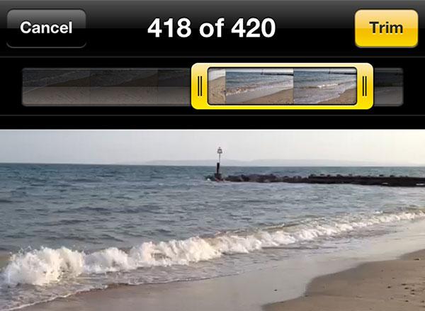 Περικοπή βίντεο στο iPhone