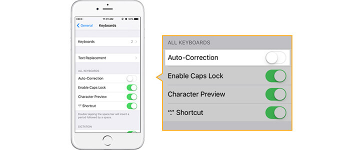 how to turn off autocorrect on iphone how to turn autocorrect on iphone 5 6 se 7 8 x 20385