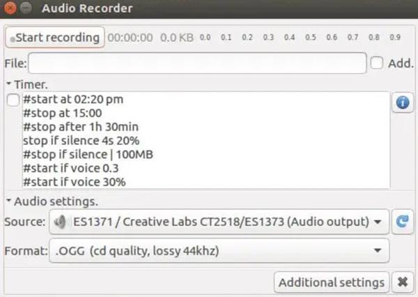 Εγγραφή ήχου στο Ubuntu